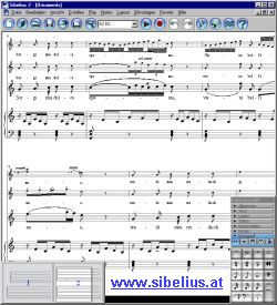 Sibelius Profi Notensatz Notationssoftware Screen