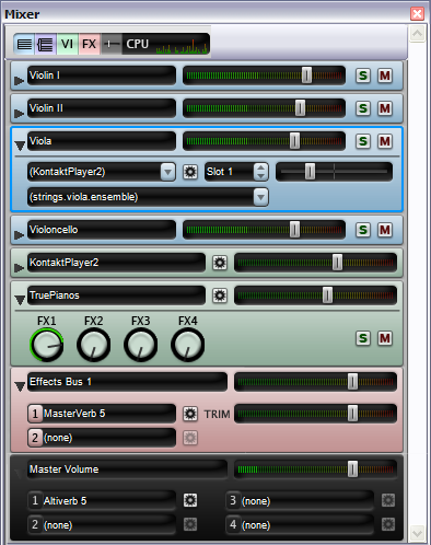 New Sibelius mixer - Sibelius lets you select specific instruments and sections of music to listen to, automatically playing the correct instrumental sounds through your soundcard or MIDI equipment.